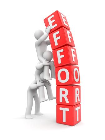 Photo for Team effort. Business 3D metaphor - Royalty Free Image