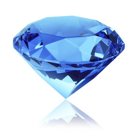 Foto per isolated blue diamond - Immagine Royalty Free