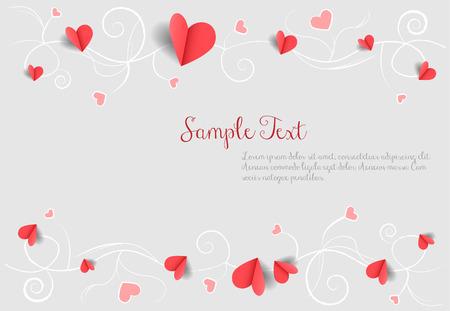 Illustration pour love background with hearts - image libre de droit