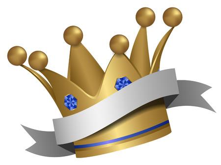 Illustration for golden crown - Royalty Free Image