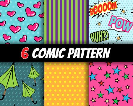 Foto de seamless comic pattern vector set - Imagen libre de derechos