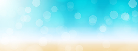 Foto de summer beach banner background illustration - Imagen libre de derechos