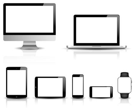 Illustration pour responsive web design vector set - image libre de droit