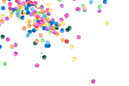 Photo for colorful confetti on white background - Royalty Free Image