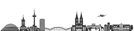 Illustration pour cologne skyline German city - image libre de droit