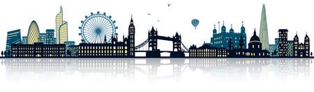 Illustration pour London skyline - image libre de droit