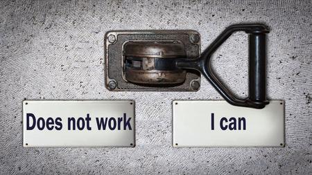 Foto de Wall Switch the Direction Way to I can versus Does not work - Imagen libre de derechos