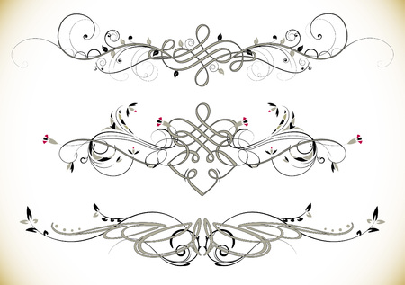 Illustration pour Swirl Floral Vintage Ornaments Decoration Vector - image libre de droit