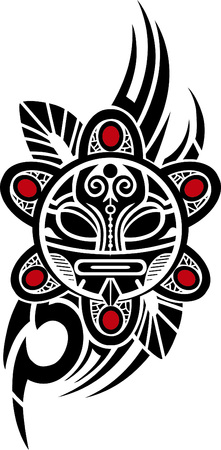 Illustration for Taino Sun Tribal Vector illustration - Royalty Free Image