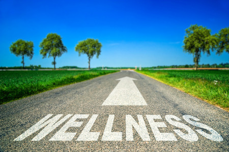 Photo for metaphor illustrating on the road the wellness and good health - Royalty Free Image