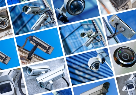 Photo for collage of security camera and urban video - Royalty Free Image