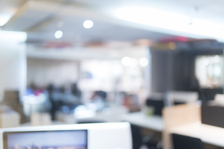 Foto de Blurred of office - ideal for presentation background. - Imagen libre de derechos
