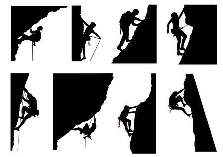 Illustration pour Climbing Silhouette - image libre de droit