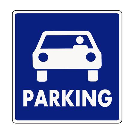 Illustration pour Autocar parking sign - image libre de droit