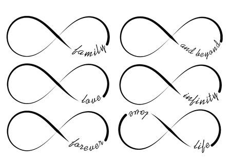 Illustration pour Infinity symbols - image libre de droit
