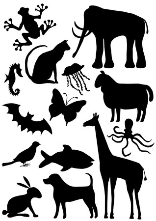 big animal silhouettes collection