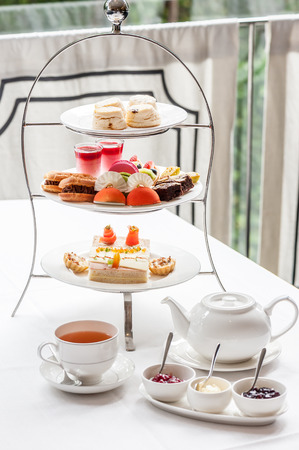 Foto de Traditional English afternoon tea - Imagen libre de derechos