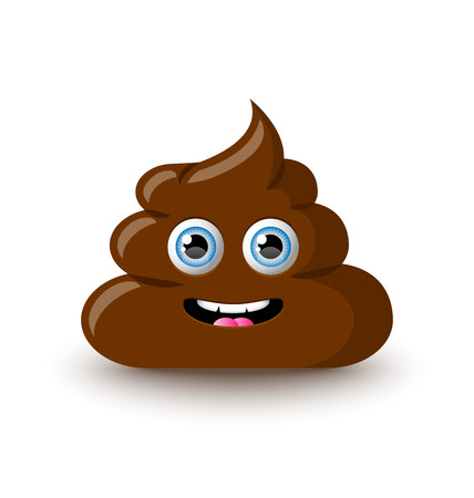 Illustration pour Funny and cute poop character placed on white background - image libre de droit
