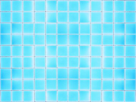 Photo for Close up blue floor tiles at the bottom swimming pool. - Royalty Free Image