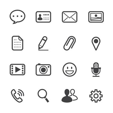 Illustration pour Chat Application Icons with White Background - image libre de droit