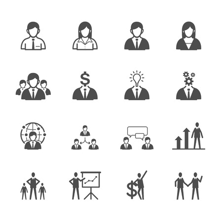 Illustration pour Business man Icons - image libre de droit