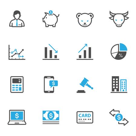 Illustration pour Business and Finance Icons - image libre de droit