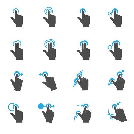 Ilustración de Touch Gestures Icons - Imagen libre de derechos