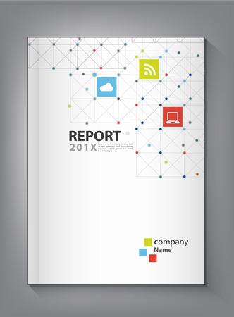 Illustration pour Modern Annual report Cover design vector dot  technology theme concept - image libre de droit
