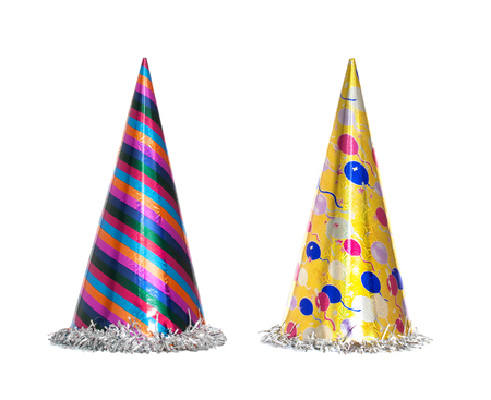 Foto de Party hat isolated on the white background, New year celebration items - Imagen libre de derechos