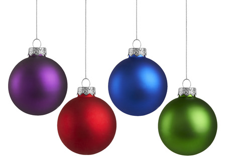 Foto de Christmas Holiday Balls isolated on a white background - Imagen libre de derechos