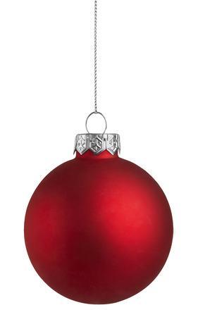 Photo pour Red Christmas Ball on a white background - image libre de droit