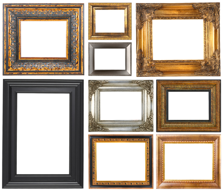 Photo pour Antique frames isolated on a white background