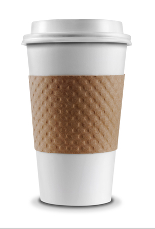 Photo for Coffee Cup isolated on a white background - Royalty Free Image