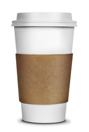 Foto für To go Coffee Cup isolated on a white background - Lizenzfreies Bild