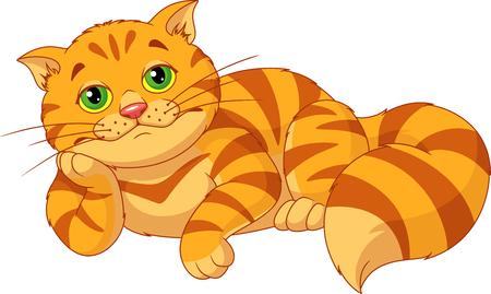Ilustración de Sad Fat Cat - Imagen libre de derechos