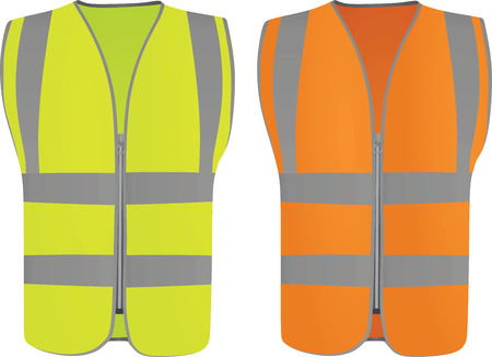 Illustration pour Safety vest. Vector illustration on white background. - image libre de droit