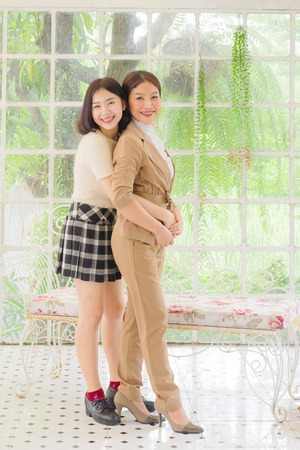 Photo for portrait of happy mother with her daughter - Royalty Free Image