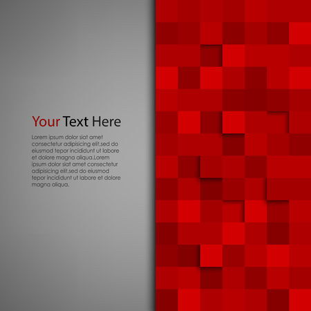 Foto de Abstract background with red square vector eps 10 - Imagen libre de derechos