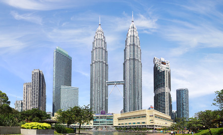 Photo pour Petronas Twin Towers at Kuala Lumpur, Malaysia. - image libre de droit