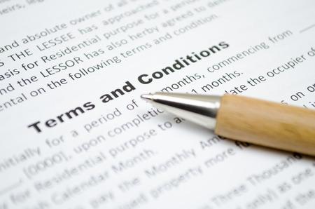 Photo pour Terms and conditions - image libre de droit
