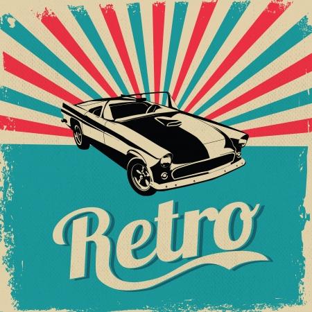 Foto de Vintage car design flyer - Grungy style vector design - Imagen libre de derechos