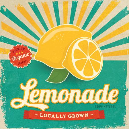 Illustration pour Colorful vintage Lemonade label poster vector illustration - image libre de droit