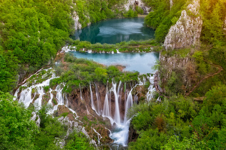 Photo for Breathtaking view of waterfalls in the Plitvice - Royalty Free Image