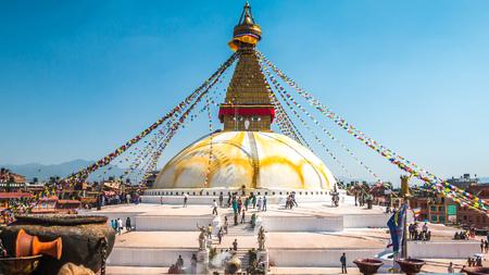Foto de Boudanath Temple in Kathmandu - Imagen libre de derechos