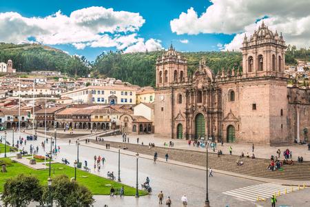 Photo pour Plaza Armas in Cusco Peru - image libre de droit