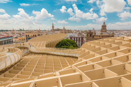 Foto de Nice view of Seville from Metropol Parasol - Imagen libre de derechos
