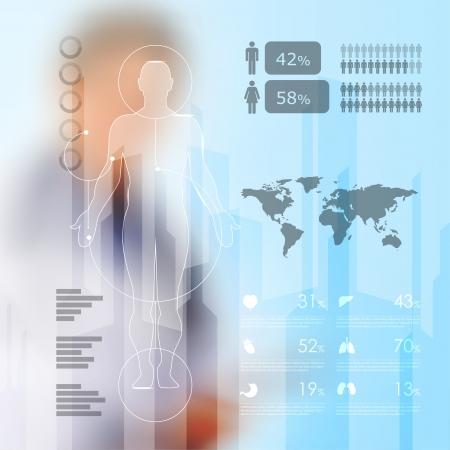Illustrazione per medical infographic elements  - Immagini Royalty Free