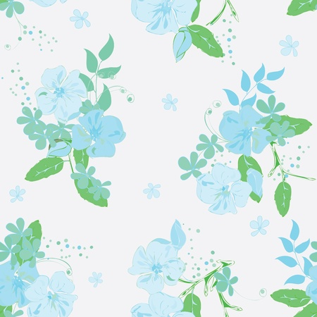 Abstract floral seamless pattern background mural