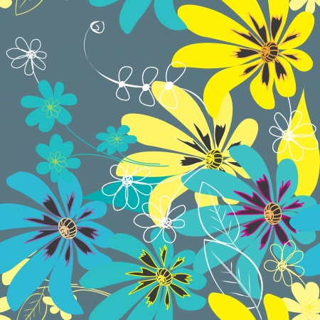Abstract flower seamless pattern background mural