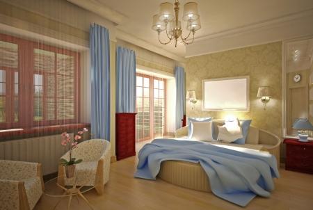 bedroom 3-D model